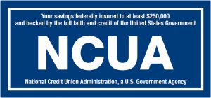 NCUA logo with white text on blue background
